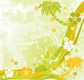 Summer scene, palms,  Royalty Free Stock Image