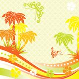 Summer scene, palms, vector Royalty Free Stock Photography