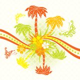 Summer scene, palms, vector Royalty Free Stock Photo