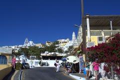 Summer scene from Pyrgos,Santorini Royalty Free Stock Photography