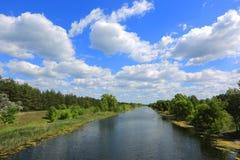 Summer scene on river Stock Photos