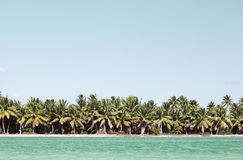 Summer scene with tropical beach and blue sea Royalty Free Stock Photo