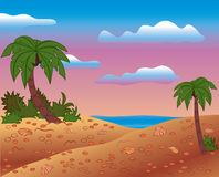 Summer scene, vector Royalty Free Stock Image