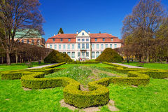 Summer scenery of Abbots Palace in Gdansk Oliwa Stock Photo