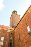 Summer scenery of City Hall Tower in the Old Town in Stockholm, Royalty Free Stock Photos