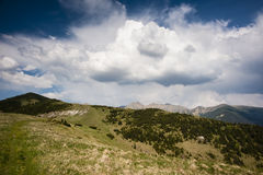 Summer scenery with clouds Royalty Free Stock Photo