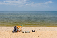 Summer scenery on a Dnepr river Royalty Free Stock Photos
