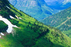 Summer scenery, Glacier National Park Stock Photo