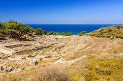Summer scenery of Kamiros ruins Royalty Free Stock Photo
