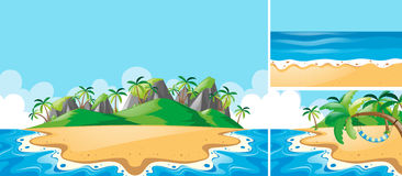 Summer scenes with ocean and beach Stock Photo