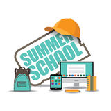 Summer school icon EPS 10 vector Stock Photo