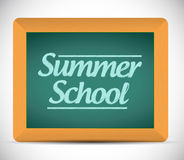 Summer school message on a chalkboard Stock Photography