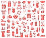 497_Summer schoonheid en manier royalty-vrije illustratie