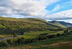 Summer in the Scotland highlands Stock Photography