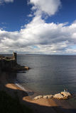 Summer in Scotland-Saint Andrews. The coastline and the castle Stock Photo
