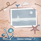 Summer scrapbooking photo album Royalty Free Stock Images