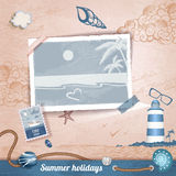 Summer scrapbooking photo album Stock Images