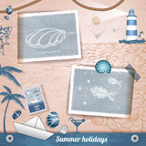 Summer scrapbooking photo album Stock Photos