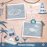 Summer scrapbooking photo album. Summer scrapbooking vintage  photo album Stock Photos
