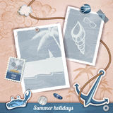 Summer scrapbooking photo album Royalty Free Stock Photos