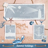Summer scrapbooking photo album Stock Image