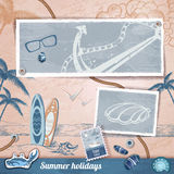 Summer scrapbooking photo album Royalty Free Stock Image