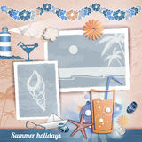 Summer scrapbooking photo album Stock Photo
