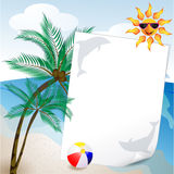 Summer and sea background Royalty Free Stock Images