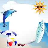 Summer and sea background Stock Photos