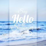 Summer Sea Background Royalty Free Stock Images