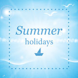 Summer sea background Royalty Free Stock Photos