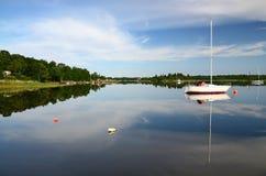 Summer sea bay landscape Stock Images