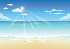 Summer sea and beach background Stock Photos