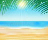 Summer sea beach Stock Photography