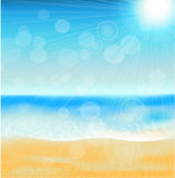 Summer sea beach Royalty Free Stock Photography