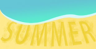 Summer Sea Beach Traveling resort background banner design Royalty Free Stock Photos