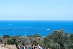 Summer sea. Beautiful blue summer sea in Cyprus/akamas Stock Photos