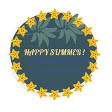 Summer, sea and beauty logo badges and templates Royalty Free Stock Photo