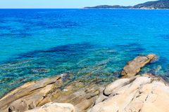 Summer sea coast Halkidiki, Greece. Stock Photo