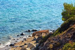 Summer sea coast Halkidiki, Greece. Royalty Free Stock Images