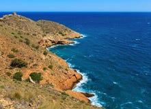 Summer sea coast landscape Spain. Stock Photo