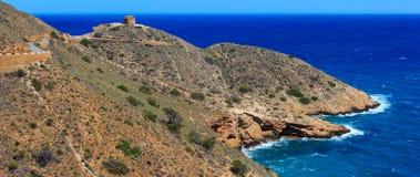 Summer sea coast landscape Spain. Royalty Free Stock Photos