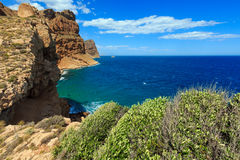 Summer sea coast landscape Spain. Royalty Free Stock Photography