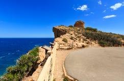 Summer sea coast landscape Spain. Royalty Free Stock Images