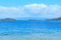 Summer sea coast Sithonia, Greece. Royalty Free Stock Images