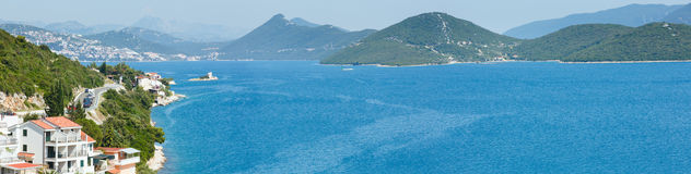 Summer sea coastline panorama (Croatia) Royalty Free Stock Photography