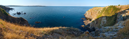 Summer sea coastline panorama. Royalty Free Stock Images