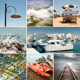 Summer sea collage Royalty Free Stock Image