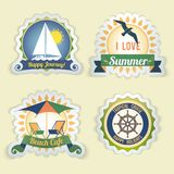 Summer sea emblems Royalty Free Stock Images