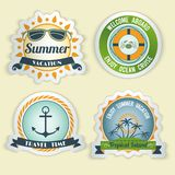 Summer sea emblems Royalty Free Stock Image